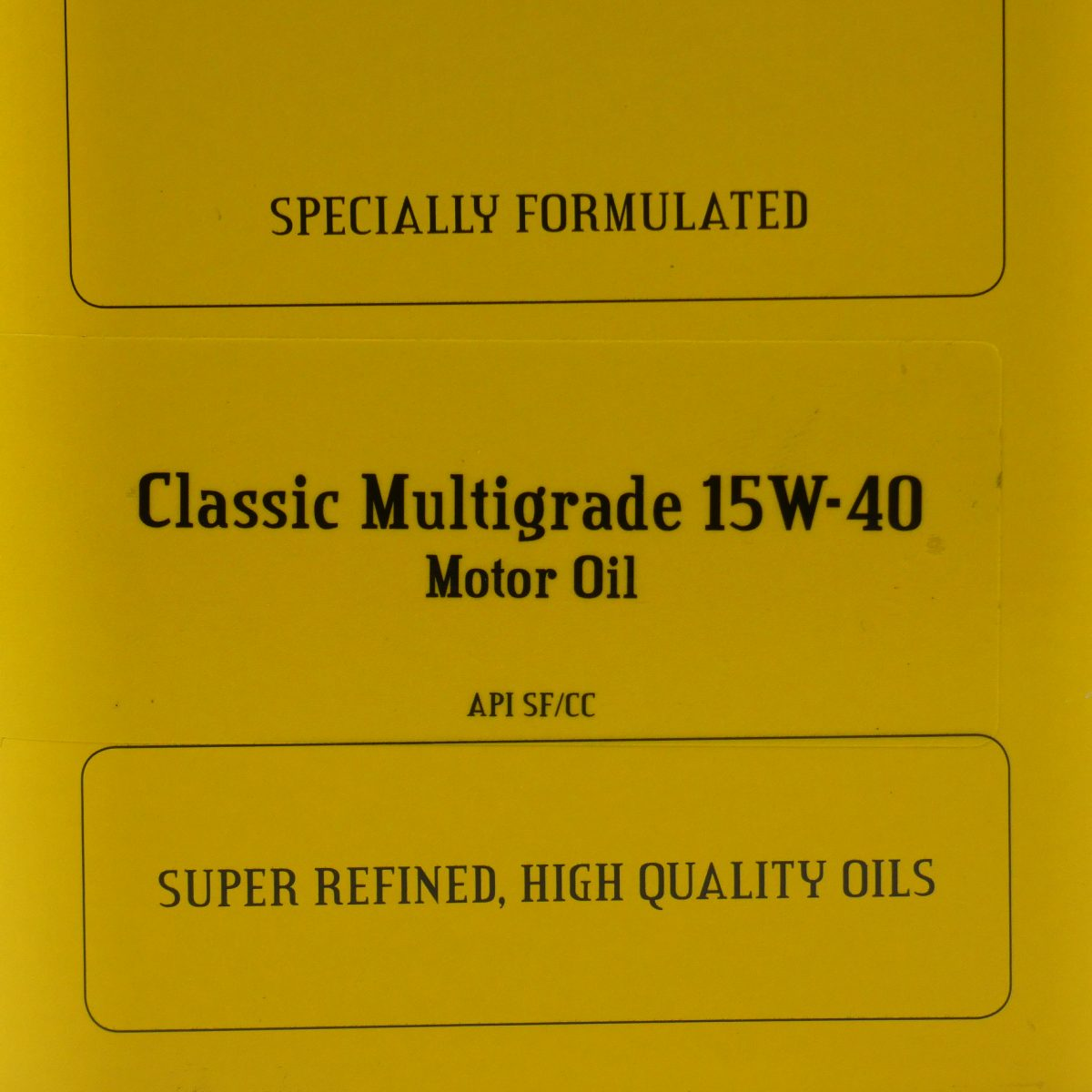 Multigrade 15-w40 classic oil